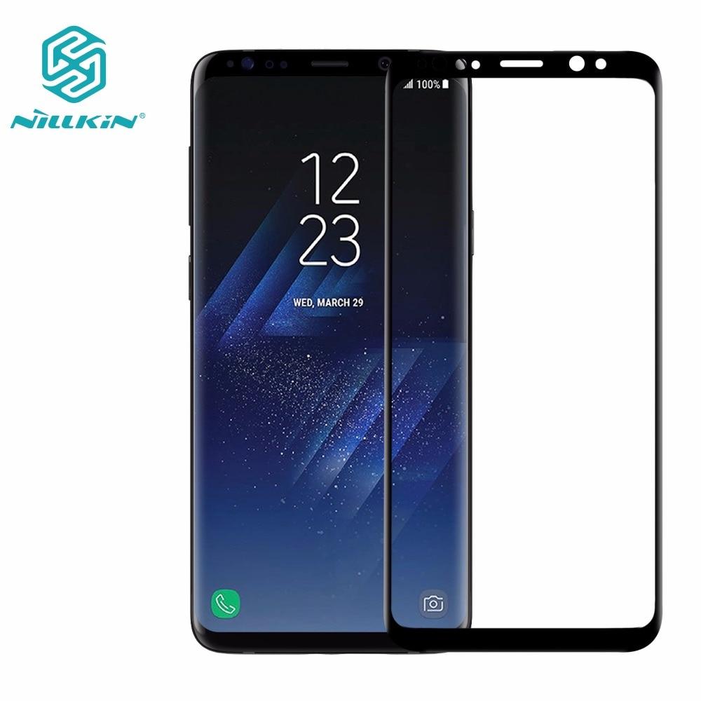 Trempé Protecteur D'écran En Verre Pour Samsung Galaxy S9/S9 Plus NILLKIN Incroyable 3D CP + MAX Nano Anti-Explosion 9 H Verre De Protection
