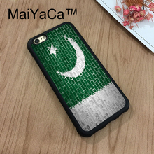 "MaiYaCa Pakistan Flag on Brick Wall New For iPhone 7 Case 4.7"" Protect Case Cover Shockproof Rubber Hard Phone Cases Coque"