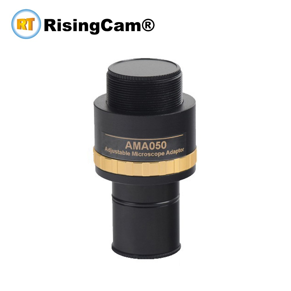 Focusable 0 5X Microscope eyepiece adapter with 23 2mm interface and C mount
