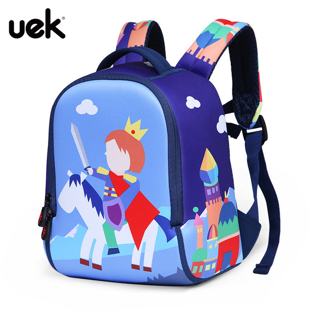 Uek Waterproof Prince Princess School Bags For Boy Girls Kids