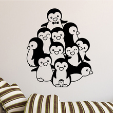 Cartoon Penguin Wall Sticker Animal Stickers Kids Room Bathroom Art Home Party Decor Wallpaper LW76