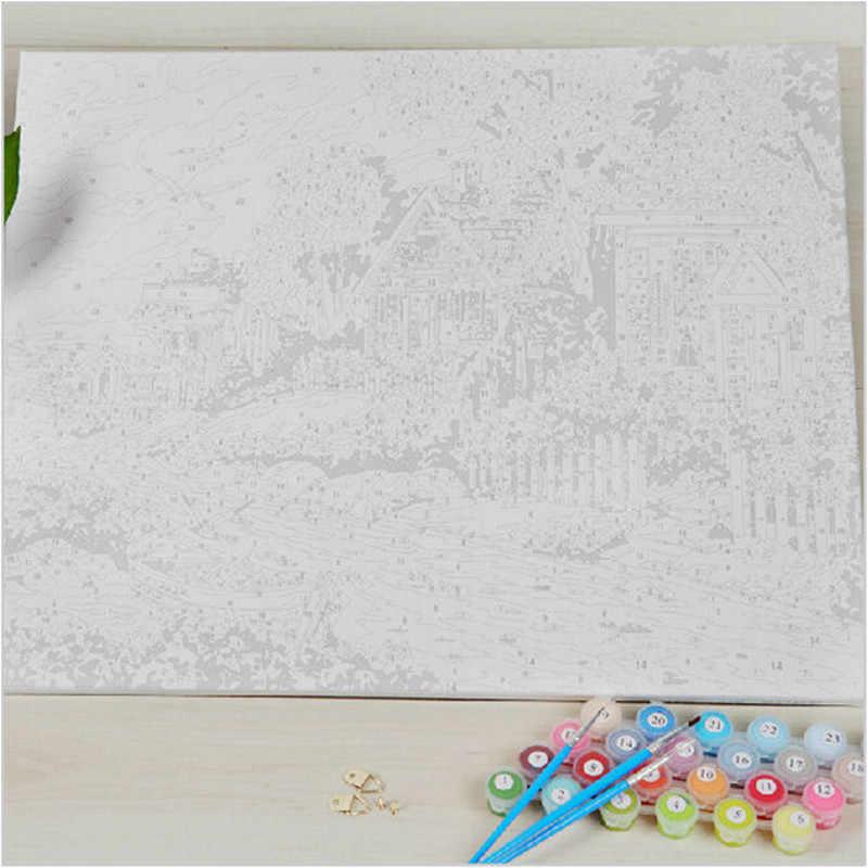 Одуванчик фотографии девушки для рисования по номерам на холсте с акриловыми красками настенные живописные картины для гостиной домашний декор WR041
