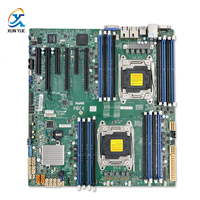 Supermicro X10DRI Orijinal için Kullanılan Sunucu/Masaüstü Anakart Çift CPU C612 Soket R LGA 2011-3 DDR4 ECC E5-2600 V3 V4