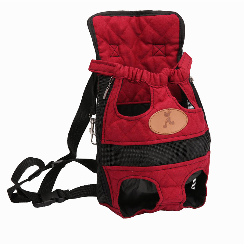 Fashion Dog Carriers Red Travel Breathable Soft Pet Dog Backpack Outdoor Puppy Chihuahua Small Dog Shoulder Handle Bags S M L XL