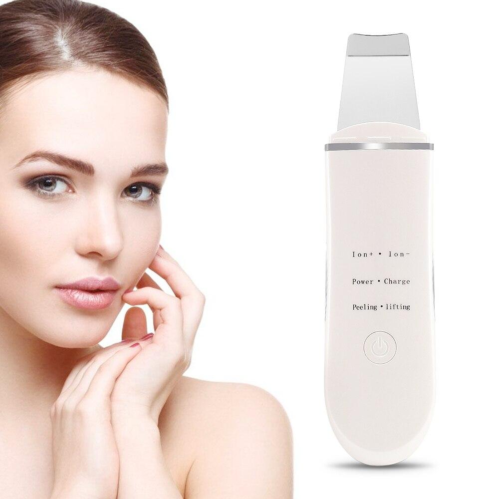 Ultraschall Ionen Gesicht Haut Wäscher Wiederaufladbare Gesichts Reiniger Reinigung Spachtel Peeling Vibration Mitesser Entfernung Peeling