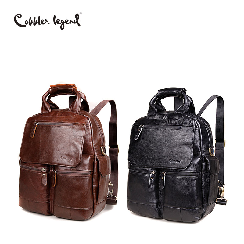 Cobbler Legend Genuine Leather Bag Men Messenger Shoulder Bags Men's Crossbody Tote Handbags Casual Business Briefcare 2 Color casual canvas women men satchel shoulder bags high quality crossbody messenger bags men military travel bag business leisure bag