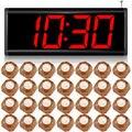 Kerui c2999 sem fio sistema de chamada para o restaurante botão de chamada de serviço do sistema + 28 display led