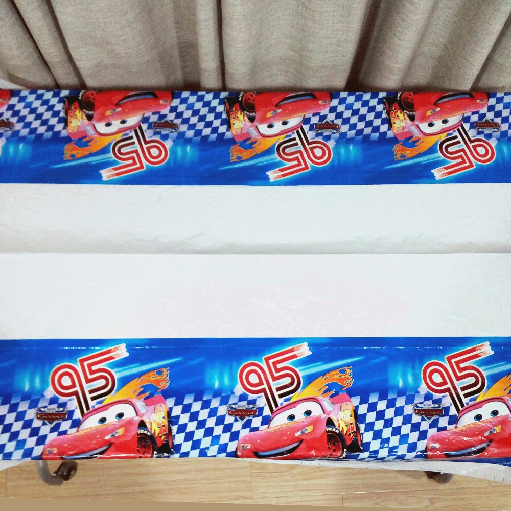 Disney Cars Lighting Mcqueen Birthday Party Supplies TableCloth Disposal Table Cloth Kids Boys children Party Decoration in Disposable Party Tableware from Home Garden