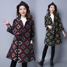 winter garments classic manteau femme wool woolen coat woman unfastened cloak buckle coat girls primary coats doudoune femme