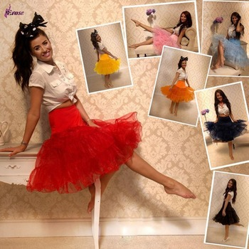 Free Shipping Short Organza Petticoat Jupon Crinoline Wedding Bridal Underskirts For Vintage Dress Prom Dress