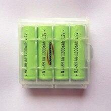 4pcs/box total 8pcs 1.2v aa 1200mah rechargeable NIMH battery Remote Toys