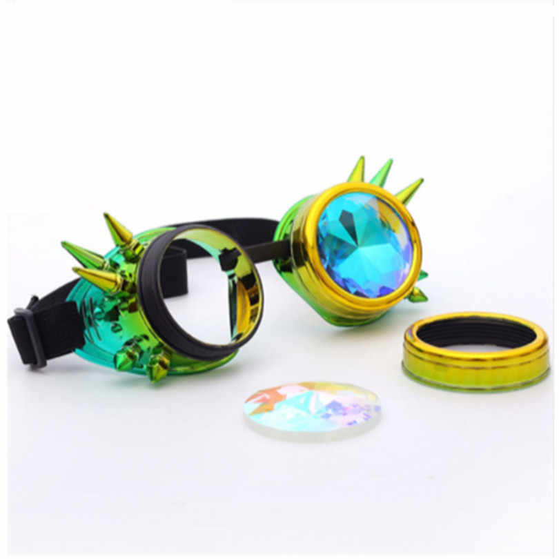545b514cb4e0 ... Kaleidoscope Glasses Cosplay Party Glasses Women Men Gothic Holographic Rave  Festival Steampunk Goggles Sunglasses ...