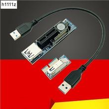 USB 3,0 PCI-E X1 удлинитель Кабель Питания Расширение SATA шнур PCI Express 1X Riser плата расширения для ПК сетевые карты видеокарты