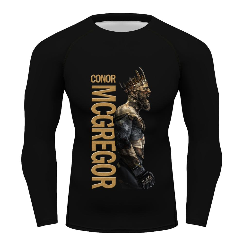 Мужская компрессионная футболка King Of Конор Макгрегор, с коротким рукавом, MMA