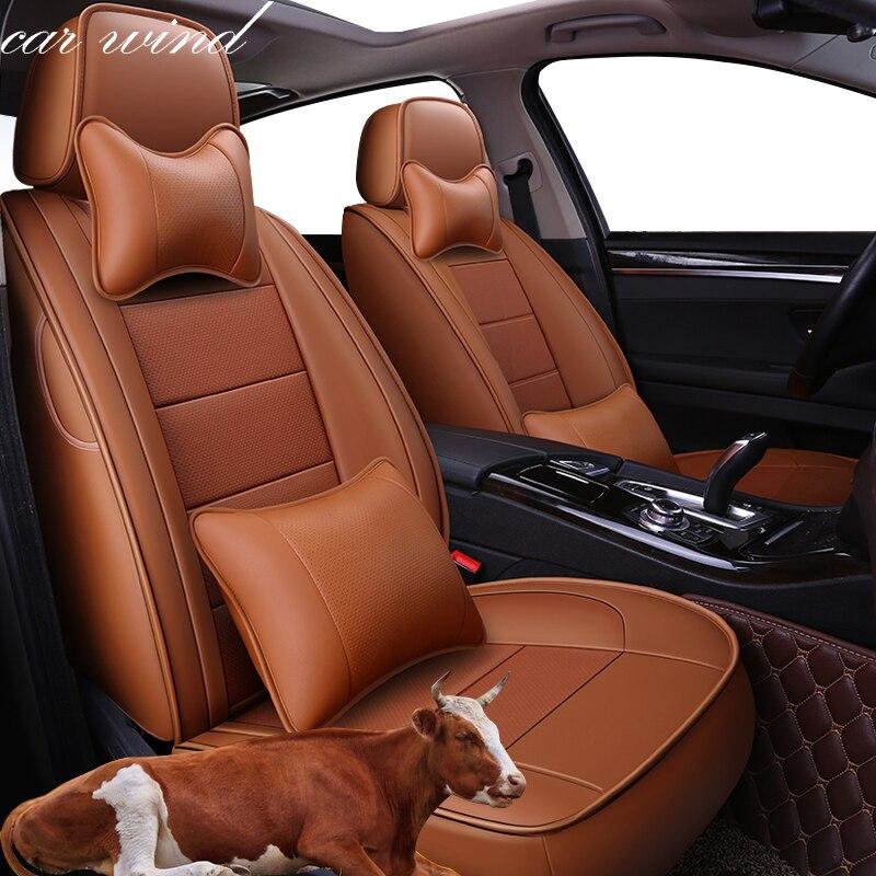 Voiture Vent automovil housse de siège de voiture en cuir pour toyota solaris RAV4 skoda rapide bmw e46 Land Cruiser Prado 150 kia accessoires de voiture