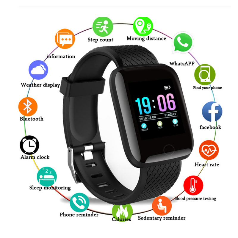 Pedometer Monitor Watch Fitness-Tracker Smart-Band Blood-Pressure-Measurement Waterproof