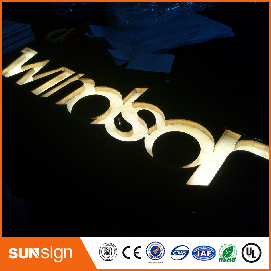 Luminous Letter Led Lighting Sign For Coffee Store
