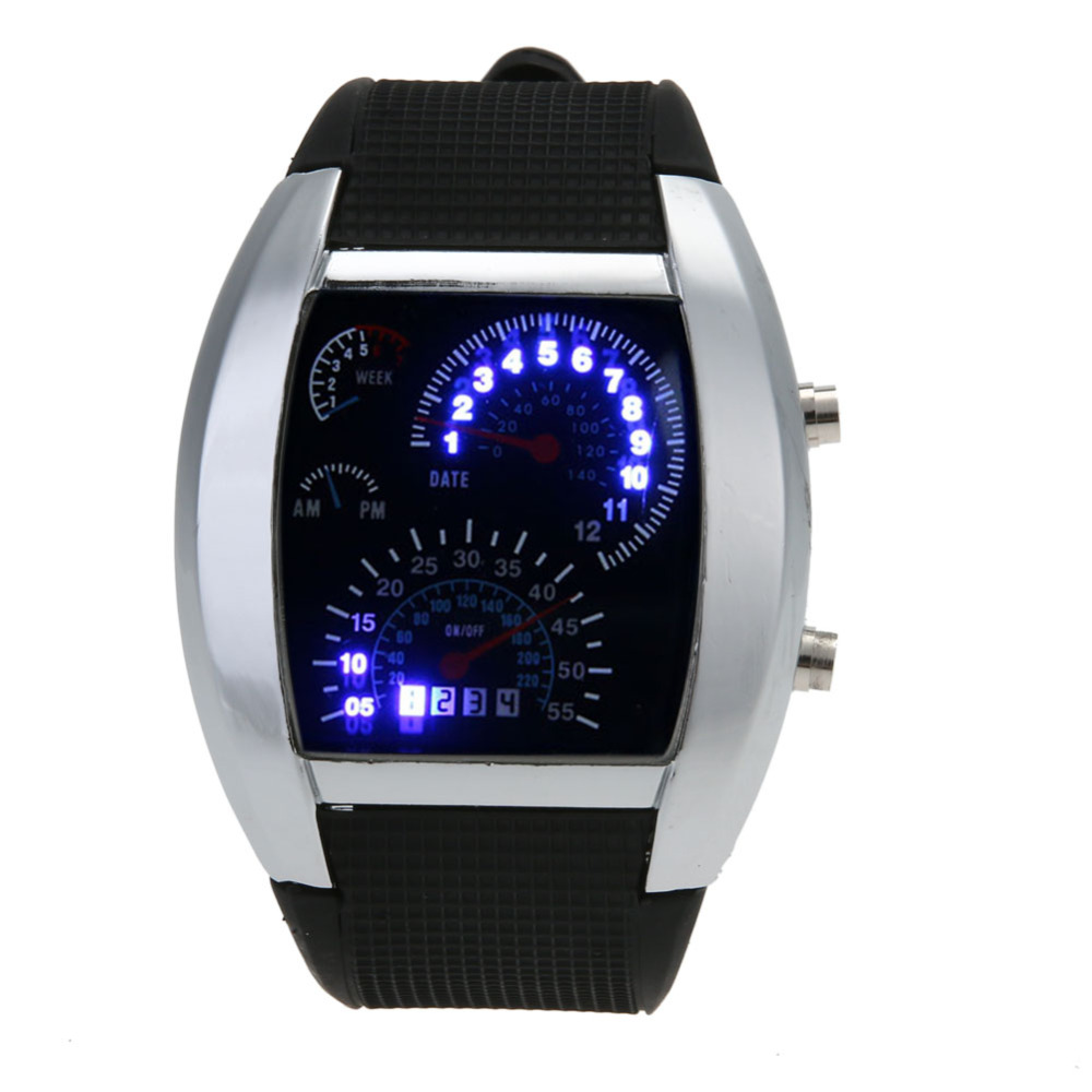 Fashion Men's Stainless Steel Luxury Sport Analog Quartz LED Wrist Watch Top Brand Luxury Watches Clock Moment Male Wrist Watch