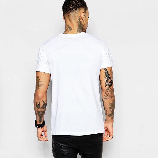 Dingtoll Cool Style White Summer Gangster Panda Printed T shirt For Men Harajuku Fashion Tees Tops MTE32