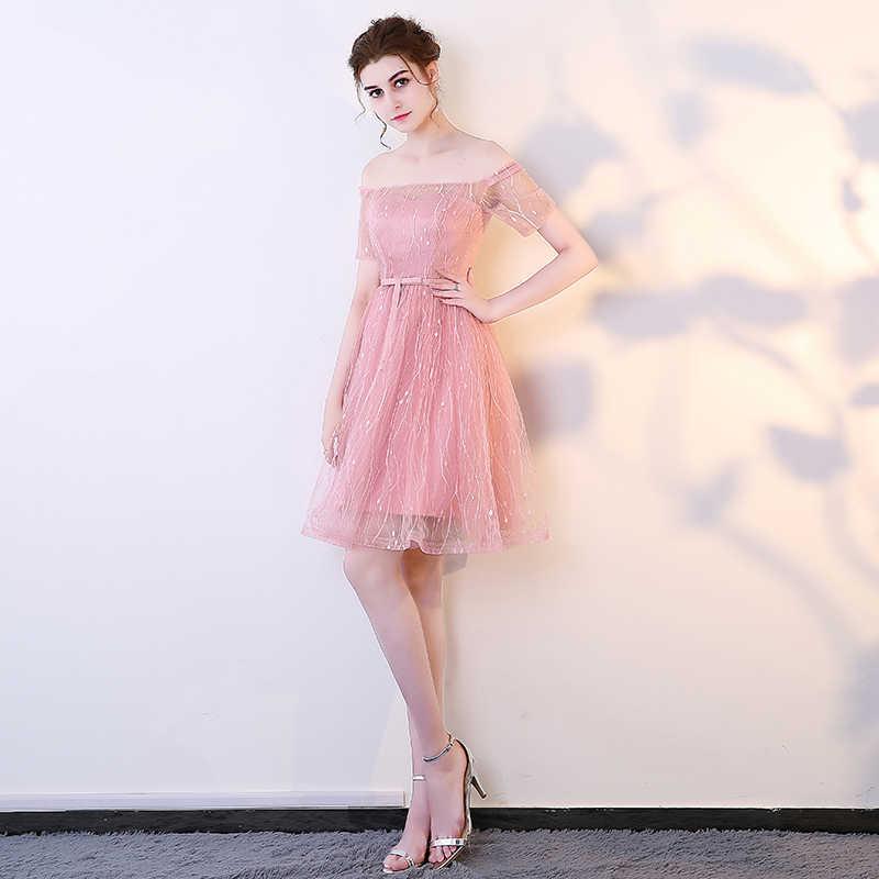 Nuovo sexy di colore rosa grigio del bicchierino di estate della signora delle donne della ragazza della principessa della damigella d'onore di banchetto del partito della sfera gown dress