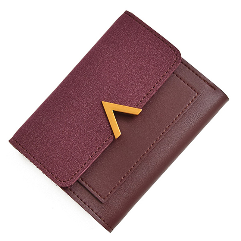 MONNET CAUTHY Wallets for Women Classic Vintage Style Fashion Lady Solid Color Green Khaki Wine Red Black Standard Short Wallet dd001263 fashion stylish women lady girls short red wine color cosplay wigs cap as gift