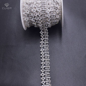 10yards Tassel rhinestones fringe trimming appliques for wedding dress belt sash sewing glass strass clothings accessories