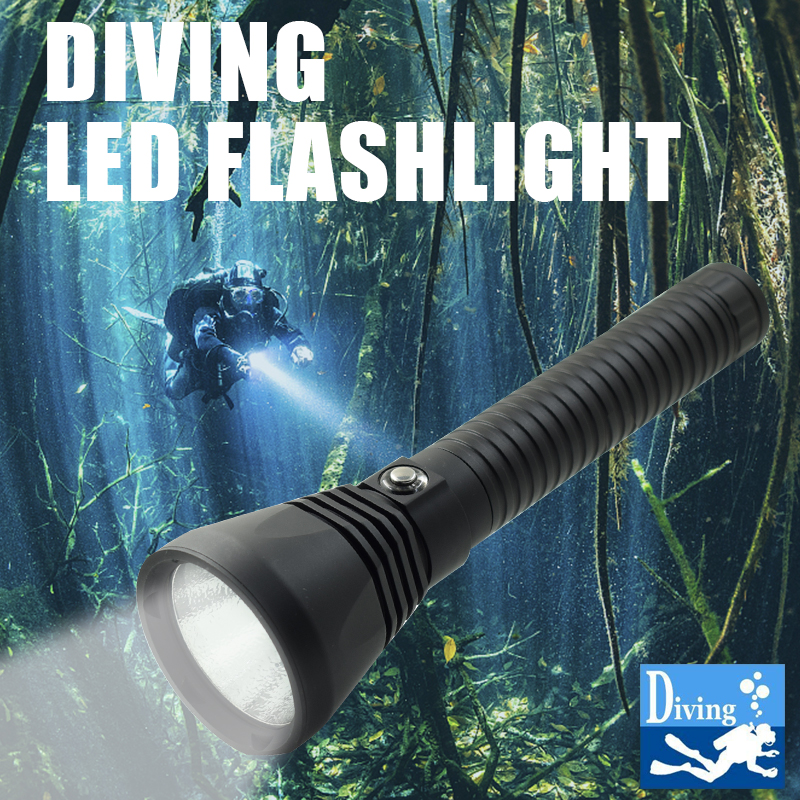 18650 Dive Flash Light 4000LM XHP70 LED Diving Flashlight Waterproof Torch Underwater 100M Tactical Lantern For Camping Fishing professional waterproof dive flash light xhp70 led diving flashlight tactical torch with 4 18650 battery charger for camping