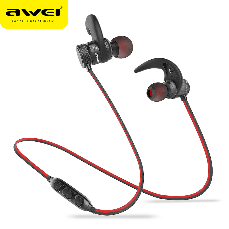AWEI A920BLS Bluetooth Headphone Wireless Headphone Sport Headset with magnet Auriculares Cordless Headphones Casque 10h Music hongsund hb806 bluetooth earphone double battery wireless headphone sport headset auriculares cordless casque 10 hours