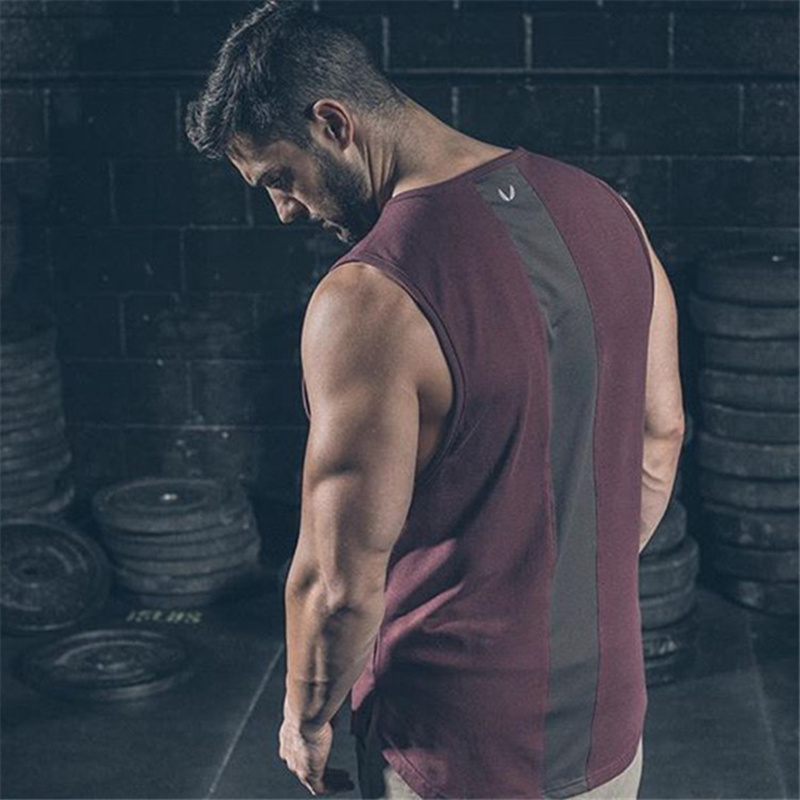 Men Bodybuilding cotton   tank     tops   Male Gyms Fitness workout sleeveless shirt Casual Stringer undershirt vest singlets clothing