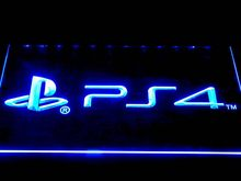 e174 Playstation 4 PS4 LED Neon Sign with On/Off Switch 20+ Colors 5 Sizes to choose(China)