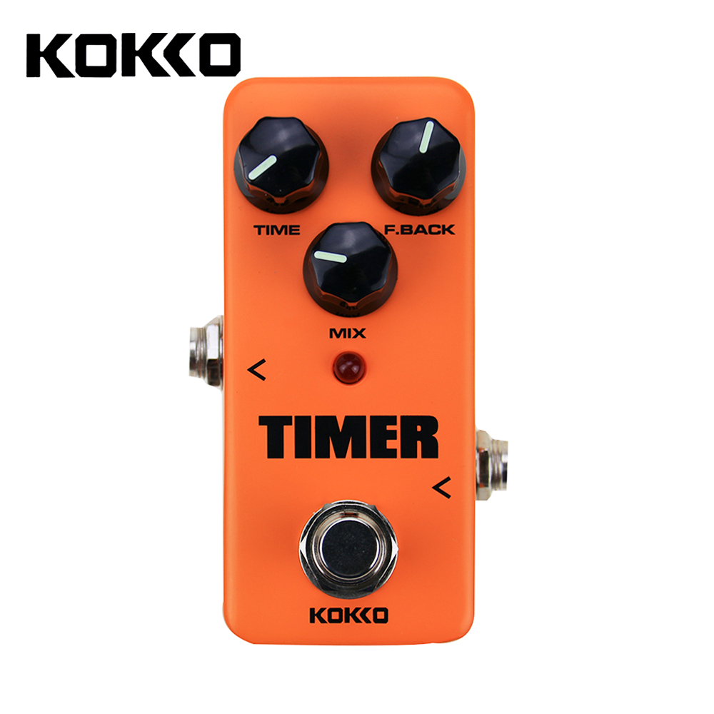 KOKKO FDD2 Timer Delay Guitar Effect Pedal 25-1000ms Delay True Bypass Guitar Parts & Accessories aroma adl 1 true bypass delay electric guitar effect pedal high quality aluminum alloy guitar accessories delay range 50 400ms