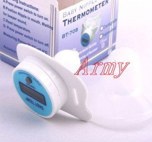 50pcs/lot Baby nipple thermometer