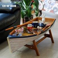 Средиземноморская Лодка Форма стол Пикник Открытый сад стол нескладной балкон журнальный столик чайные столы мебель Decorat творческий