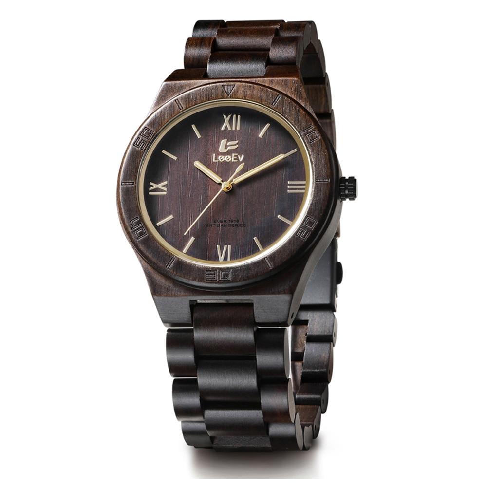Montre couleur bois Hommes Rond Rétro Horloges Poignet Hommes Montre De Luxe bois de marque Quartz Multifonction Montres Livraison Gratuite Vente