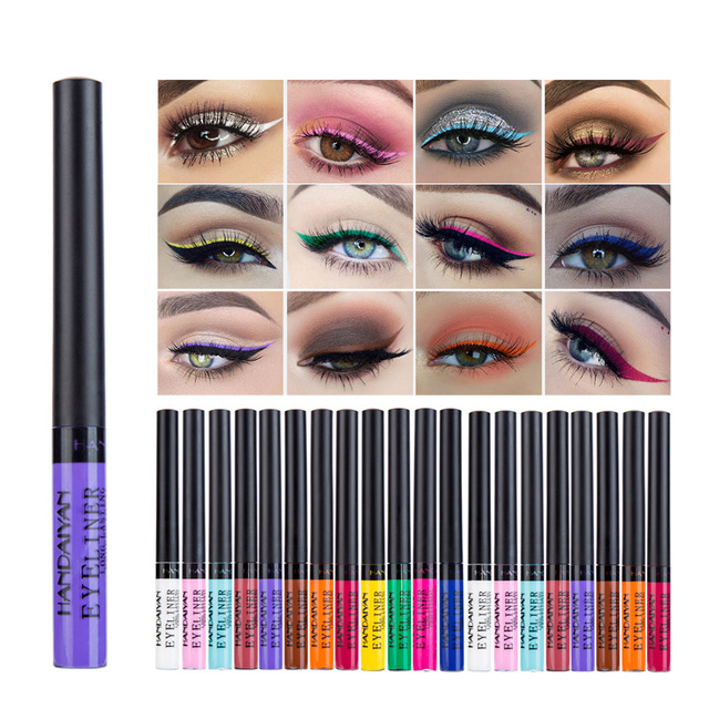 Long Lasting Sexy Charming Eye Liner Pen Hot HANDAIYAN 12 Colour Waterproof Matte Eye Cosmetics Shadow EyelinerTSLM1