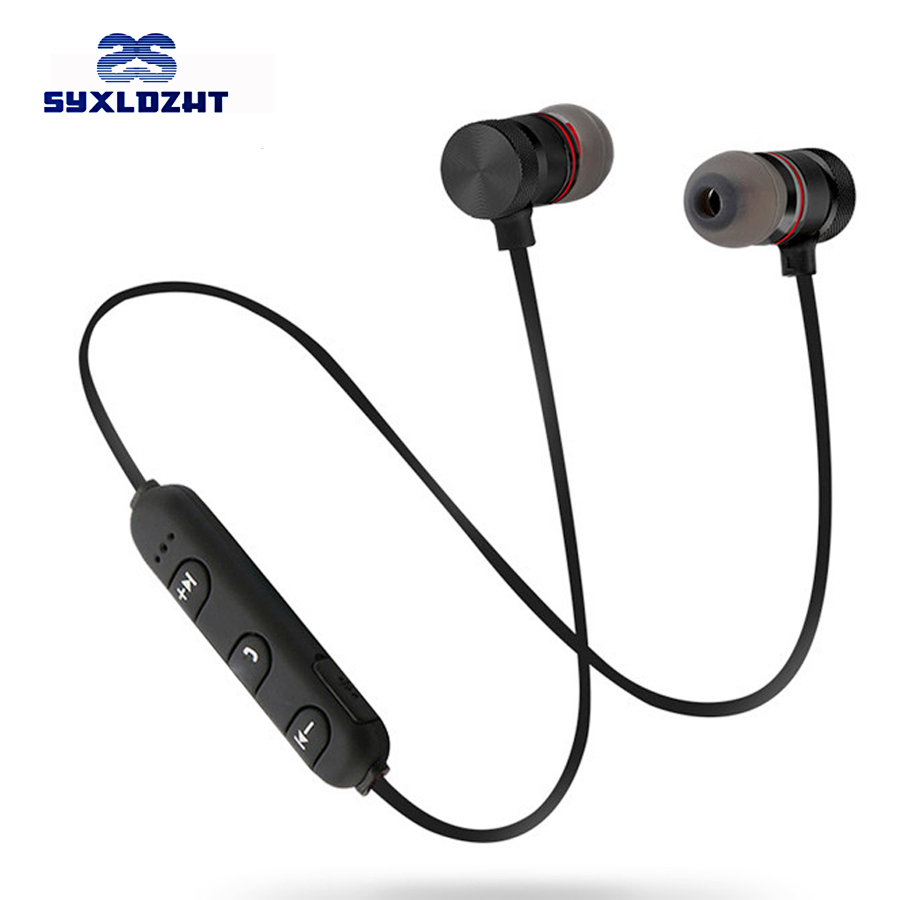 Bass Bluetooth Earphone Wireless Headphones Headset With Mic Stereo Magnetic Blutooth Earphones Earbuds for iphone xiaomi Phone