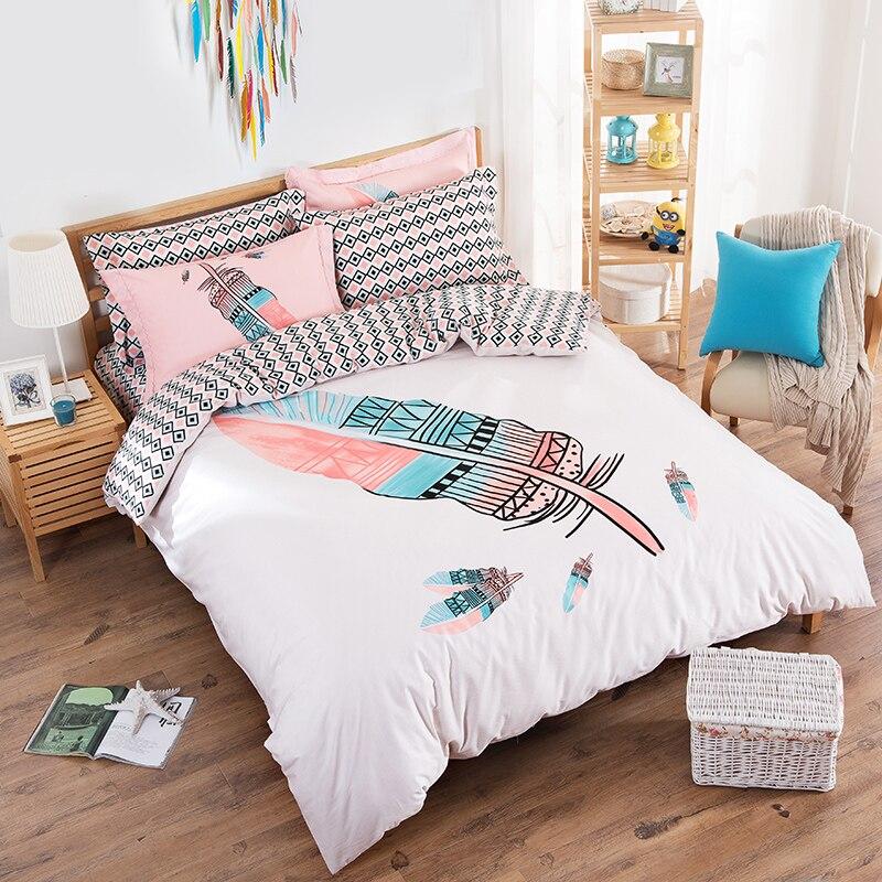 Cartoon Bedding Sets 4pcs Cotton Duvet Cover Set For
