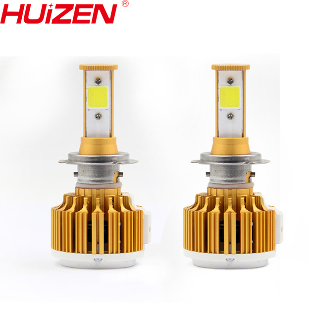 12v Car Led Headlight Kit COB Chip Lamp Factory Outlets With Fan H7 9006  HB4 H7