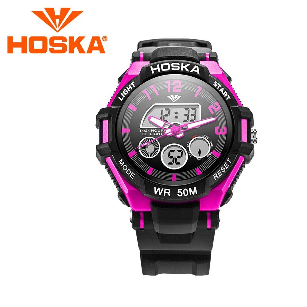Brand HOSKA children s watches Kids digital watch men s Quartz watch two display student boys