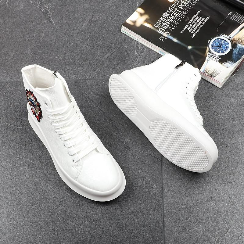 De Bottes Casual Chaussures Blanc High Top Rivets Microfibre Shipping Hommes Stephoes Luxe Marque Cheville Amérique Drop Mode mNv8n0wO