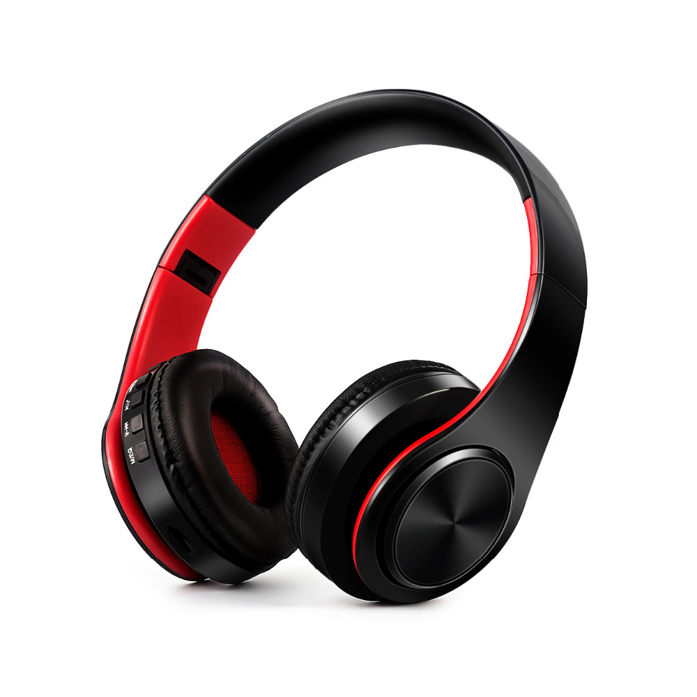 Folding HIFI Stereo Earphone Bluetooth Headphone Music Headset FM SD Card Mic for Chuwi V88HD Tablet