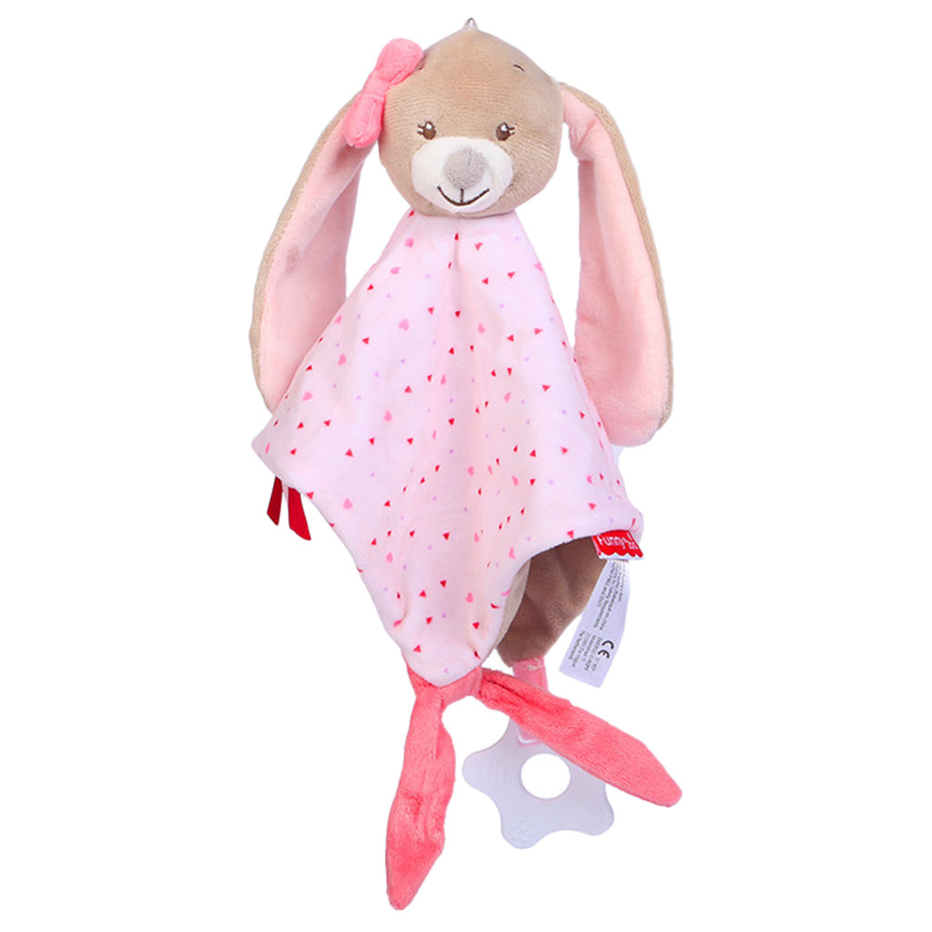 Kids 2018 Baby Cute Animal Figures Puppet toys Child Snuggle Comforter  Blanket 25cm Cloth Blanket Xmas Gift