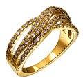 Edición limitada vestido ol de la señora Elegante anillo de la joyería pavimentada con brillante Aaa Circón Oro y placa de Rodio anillos de Dedo para mujeres