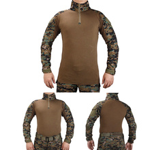 men s quick dry combat t shirt camouflage tactical shirt short sleeve military army t shirt camo outdoor hiking hunting shirts Tactical BDU combat T-Shirts Military Action Camouflage T-shirt  paintball hunting clothing With elbow pads  Jungle Digital