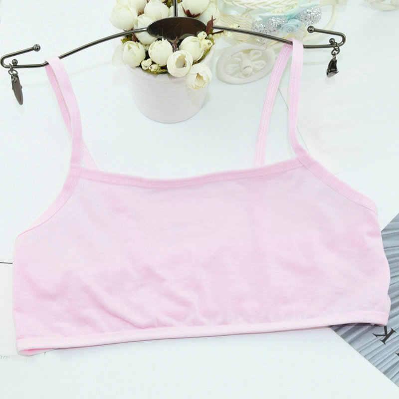 Children Young Teenagers Girl Student Vest Underwear Sport Training Bras Teens School Puberty Bra Cotton Undergarment Clothes