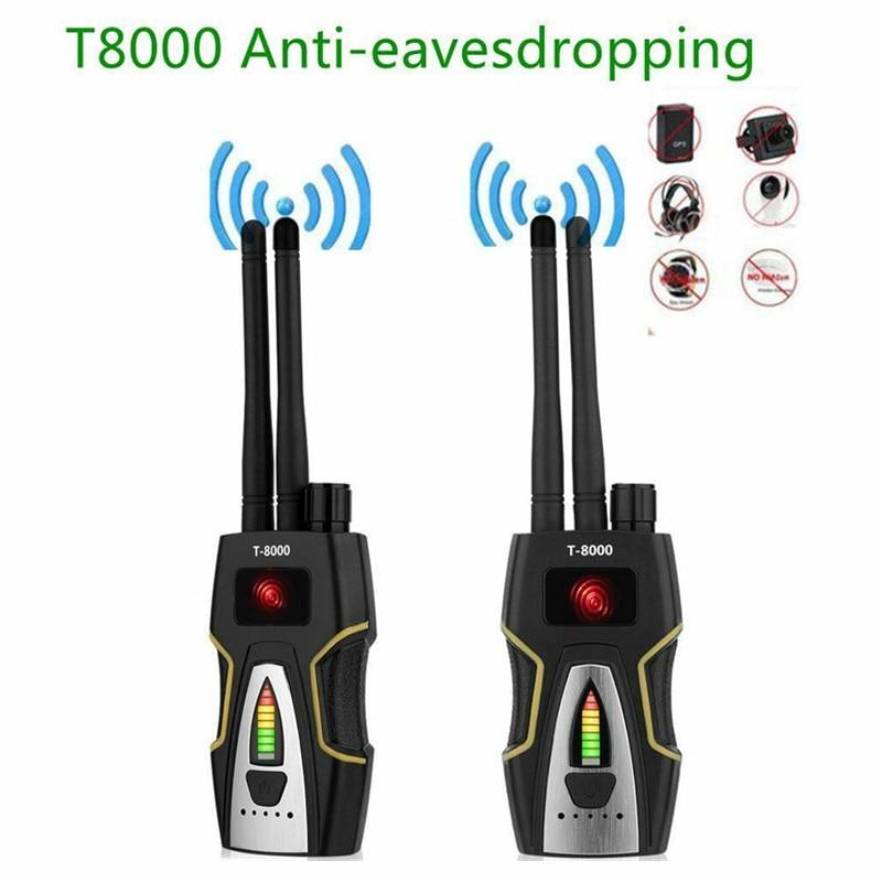 T 8000 Dual Antenna RF Signal Detector GSM Audio Finder GPS Scan Detector Anti spy Bug Anti Candid Camera Detector
