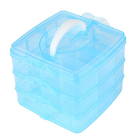 Superior Makeup Storeage Cases 3 Layer Plastic Cosmetic Nail Art Craft Make Up Jewelry Box Organizer