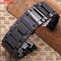 Correa de metal Correa de Reloj de cerámica Negro 24mm 26mm 28mm 30mm dz4283 dz7221 dz7257