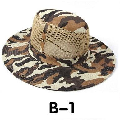 Новые модные камуфляжные летние кепки для мужчин и женщин, мужские круглые шапочки для военного кемпинга, уличная Солнцезащитная шляпа - Цвет: B 1