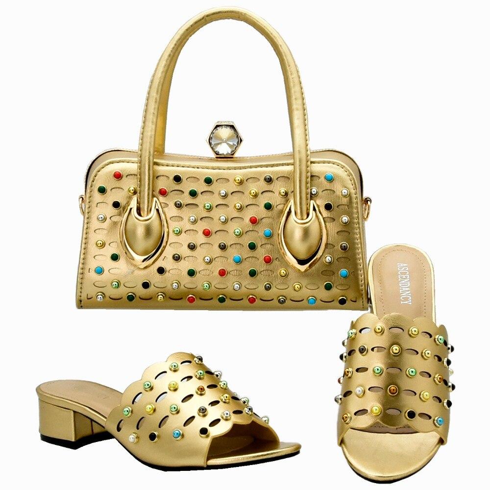 75b5ed76e58178 Mode Ensemble talons Partie Sac Coloré Chaussures Italien Or 1 3 2 La Pour  Et Dernière Mid 4 Assortir À Avec 5 ...